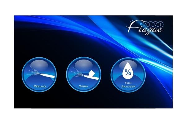 Kosmetický přístroj pro plynokapalinovy peeling AV-3500