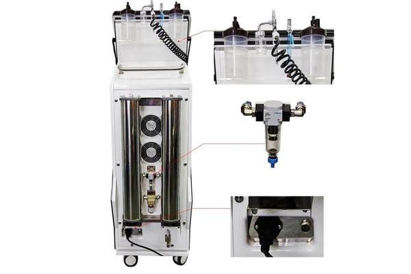 Kosmetický přístroj pro kyslíkovou terapii a plynokapalinovy peeling AV-7000